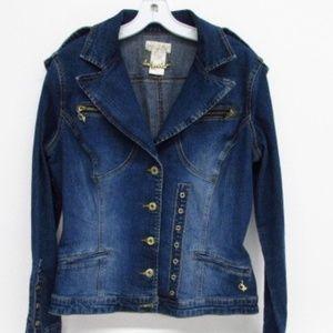 Baby Phat Women's Blue Jacket Sz L